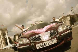 Свадебные фото ГАЗ 3111